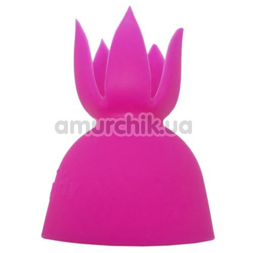Насадка на универсальный массажер Lesparty Clit, розовая - Фото №1