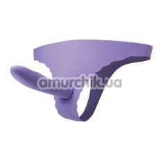 Страпон Gratify Strap On, фиолетовый - Фото №1