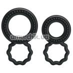 Набор из 2 эрекционных колец Ring BI-0507, чёрный - Фото №1