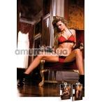 Комплект Red-Black Frilled Bikini Set: бюстгальтер + трусики-стринги - Фото №1