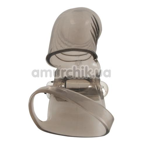 Вибронасадка на пенис Stimulation Cock Sleeve With Vibration, серая