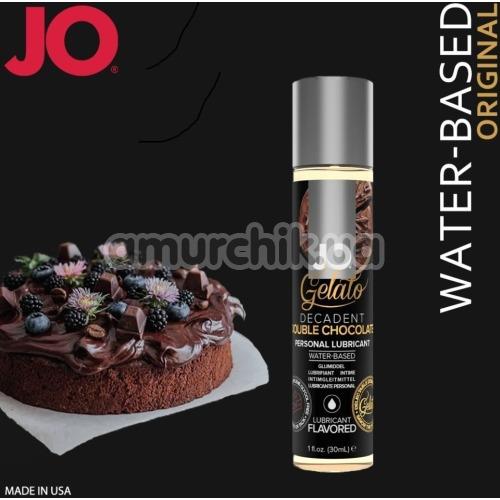 Оральный лубрикант JO Gelato Decadent Double Chocolate - двойной шоколад, 30 мл