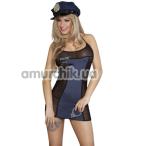 Костюм полицейской Dolce Piccante, чёрный - Фото №1