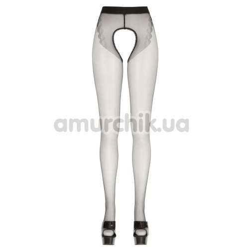 Колготки Cotelli Collection Crotchless Tights, черные
