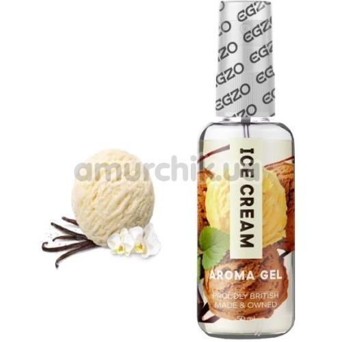 Оральный лубрикант EGZO Aroma Gel Ice Cream - ванильное мороженое, 50 мл