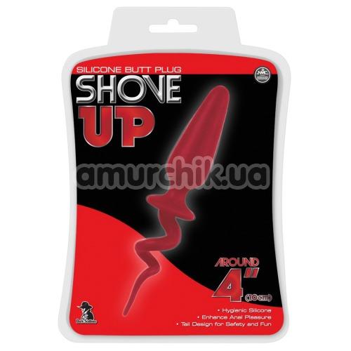 Анальная пробка Shove Up Silicone Butt Plug 4, красная