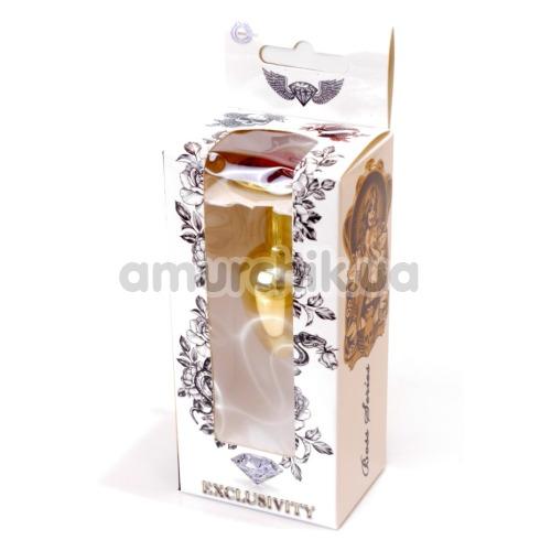 Анальная пробка с красным кристаллом Exclusivity Jewellery Gold Plug, золотая
