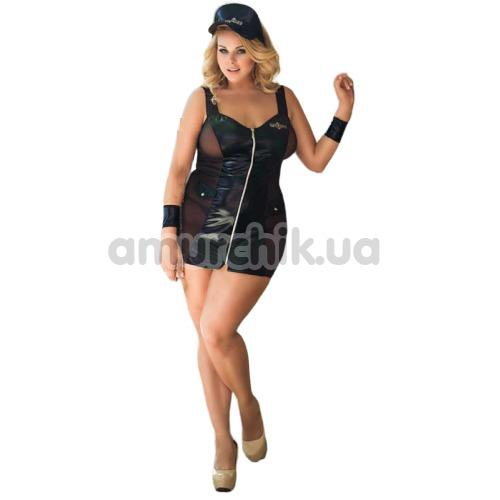 Костюм полицейской Police: мини-платье + кепка + манжеты