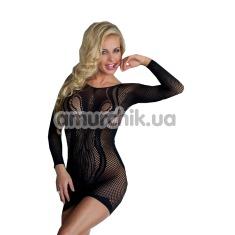 Платье-сетка Wavy, черное