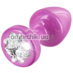 Анальная пробка с прозрачным кристаллом SWAROVSKI Anni R Clover T2, розовая - Фото №1