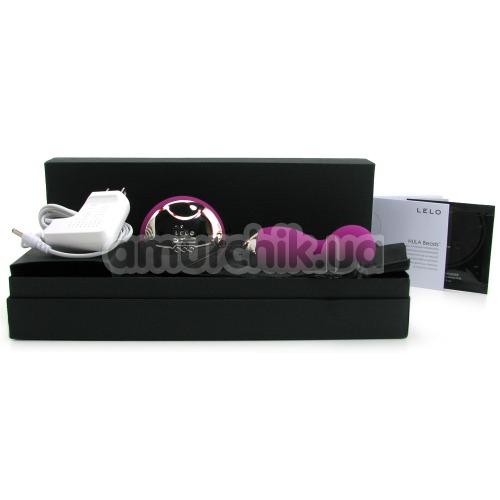 Вагинальные шарики с вибрацией Lelo Hula Beads Deep Rose (Лело Хула Бидс), фиолетовые