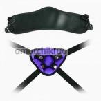 Трусики для страпона Lovetoy Orgazm Cozy Harness Series + 4 кольца, фиолетовые - Фото №1