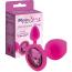 Анальная пробка с розовым кристаллом RelaXxxx Silicone Plug Medium, розовая - Фото №3