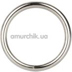 Эрекционное кольцо Silver Ring Large, серебряное - Фото №1