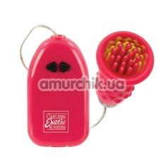 Клиторальный вибратор Pleasure Kiss, красный - Фото №1