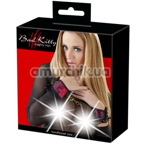 Фиксаторы для рук Bad Kitty Naughty Toys Handcuffs Asia 2492296, красно-черные