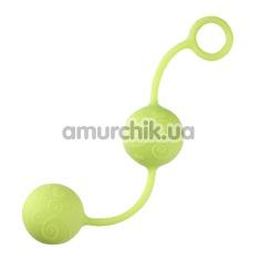 Вагинальные шарики Pleasure Balls, салатовые - Фото №1