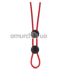 Эрекционное кольцо Stay Hard Silicone Double Loop Cock Ring, красное - Фото №1