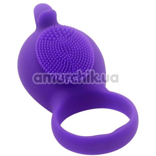 Виброкольцо Silicone Love Ring Dolphin, фиолетовое