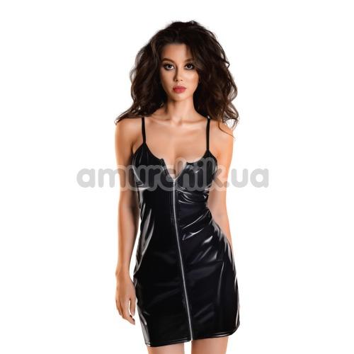 Платье Glossy Wetlook Naomi, черное - Фото №1
