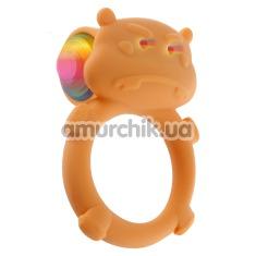Виброкольцо Happy Hippo, оранжевое - Фото №1