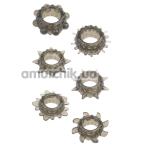 Набор из 6 эрекционных колец Menz Stuff Ring Set, черный - Фото №1
