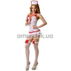 Костюм медсестры LeFrivole Nurse Costume (02893), белый - Фото №1
