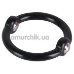 Эрекционное кольцо Beaded Cock Ring, черное