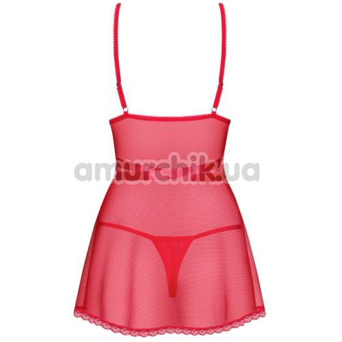 Комплект Obsessive Lovlea красный: пеньюар + трусики-стринги