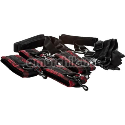 Бондажный набор Scandal Bed Restraints, черный