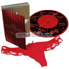 Комплект Admas The Sexy Stories красный: трусики-стринги + игра - Фото №1