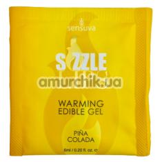 Оральный гель с согревающим эффектом Sensuva Sizzle Lips Pina Colada - Пина Колада, 6 мл - Фото №1