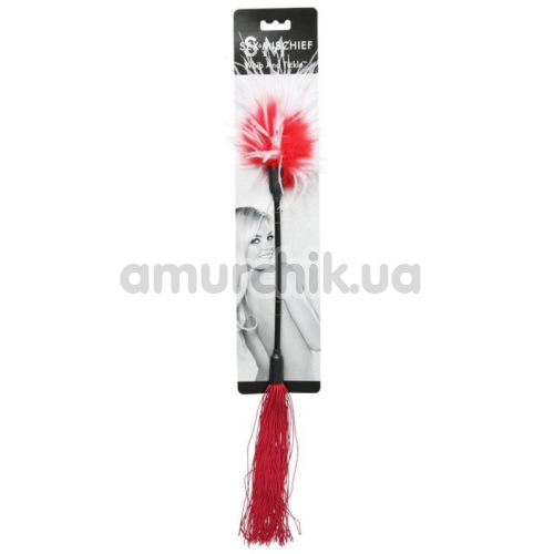 Плеть Whip & Tickle, с красно-белыми пёрышками