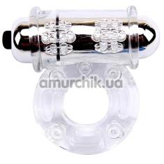 Виброкольцо Get Lock Vibrating Bull Ring, прозрачное - Фото №1