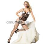 Комплект JSY Sexy Lingerie SO3704 леопардовый: корсет + трусики-стринги + чулки + съемные подвязки - Фото №1