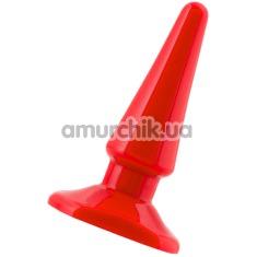 Анальная пробка Black & Red Butt Plug, красная - Фото №1