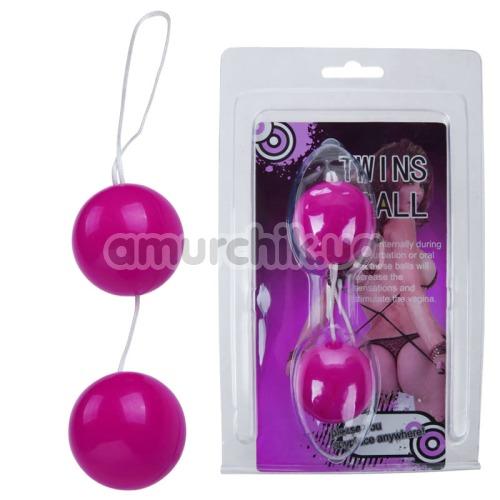 Вагинальные шарики Twin Balls гладкие, розовые