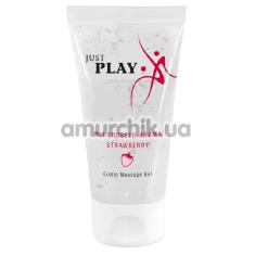 Массажный лубрикант Just Play Erotic Massage Gel Strawberry - клубника, 50 мл - Фото №1