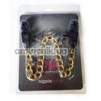 Зажимы для сосков широкие с толстой цепочкой Lucky Bay Nipple Play, черные - Фото №1