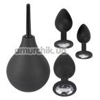 Набор из 4 предметов Black Velvets Anal Kit Jewel, черный - Фото №1