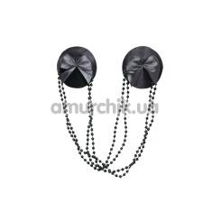 Украшения для сосков Nipple Covers and Chains, черные - Фото №1