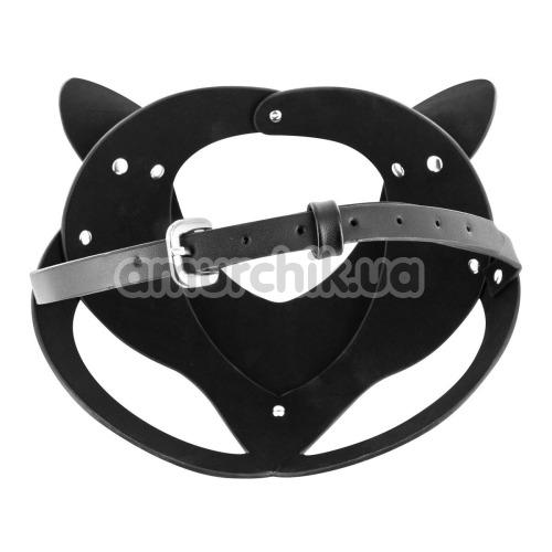 Маска кошечки Fetish Tentation Enjoy Pain Adjustable Catwoman Diamond Mask, черная