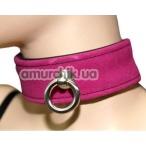 Ошейник с кольцом для поводка Spade, розовый - Фото №1