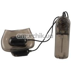 Насадка на мошонку с вибрацией Stimulation Ball Sleeve With Vibration, черная - Фото №1