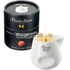 Массажная свеча Plaisir Secret Paris Bougie Massage Candle Peach - персик, 80 мл - Фото №1
