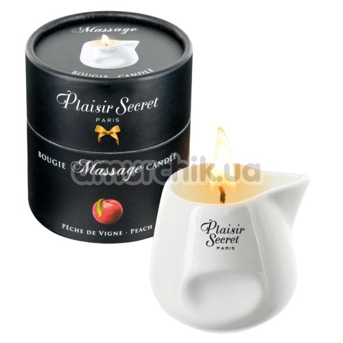 Массажная свеча Plaisir Secret Paris Bougie Massage Candle Peach - персик, 80 мл - Фото №1