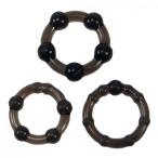 Набор из 3 эрекционных колец Linx Easy Squeeze Cock Ring Set, черный