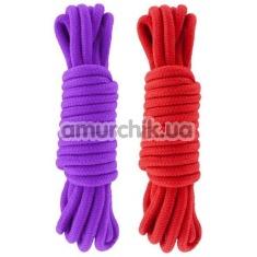 Набор веревок sLash Bondage Rope Submission 5 м, красно-фиолетовый - Фото №1
