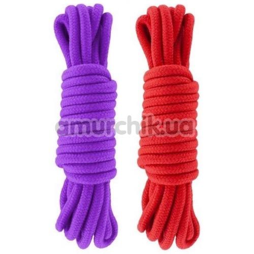 Набор веревок sLash Bondage Rope Submission 5 м, красно-фиолетовый