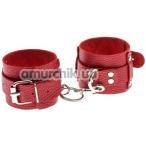 Фиксаторы для рук Leather Dominant Hand Cuffs, красные - Фото №1